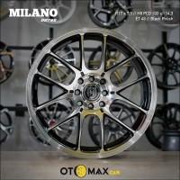 Sale Velg Mobil Milano (2795) Ring 17 Black Polish