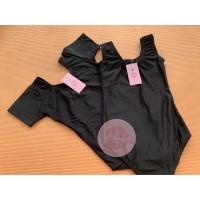 Leotard Baju Balet Gymnastic Senam Renang premium HITAM spandex motif