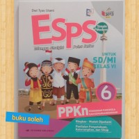buku paket Esps pelajaran PPKn SD kelas 6 kurikulum 2013 revisi