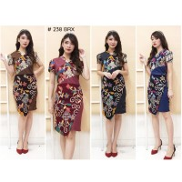 Dress Batik katun Stretch G238 / Baju Batik wanita