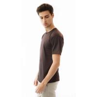 Houseofcuff Kaos Polos Pria Premium Katun Combed Lengan Pendek Cokelat