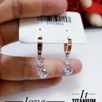 titanium anting wanita J1223