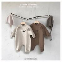 Bear Jumpsuit Pajamas Pakaian Bayi Baju Tidur Baby Brown Jumper CADEN