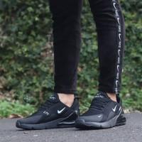 Sepatu Nike Air Max 270 Black White Sneakers For Woman Impor Quality