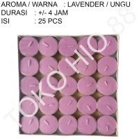 Lilin tablet Aroma Lavender Tealight Candle Aromaterapi 4 jam Wangi