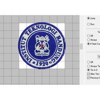 Emblem Patch Bordir Logo Institut Teknologi Bandung di Agenforedijogja