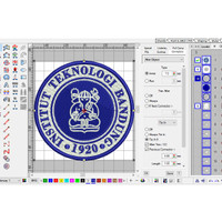 Emblem Logo Bordir Institut Teknologi Bandung/ITB di Agenforedijogja