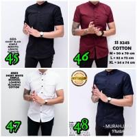 Baju Kemeja Polos Putih Pria Lengan Pendek Simple Kantor | Baju Katun