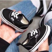 Sepatu anak vans autentik / authentic hitam putih 17 - 35