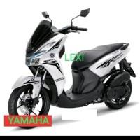 CUTTING STICKER YAMAHA LEXI motor putih sticker hitam1