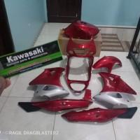 Full cover body set fairing ninja rr old merah maron original Kawasaki