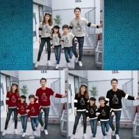 Sweater Couple Family Just For YOU 2 Anak / Baju Pasangan Keluarga