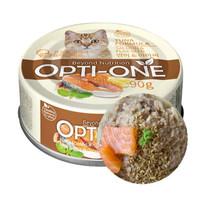 Opti-One Cat White Tuna & Salmon, Flaxseed 90gr