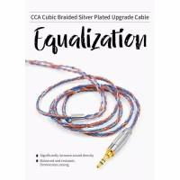 Kabel Headset Earphone CCA Cable Upgrade C2 Orange Blue Braded Ori