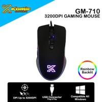 Mouse Gaming Komic GM-710 3200DPI RGB Macro Programmable