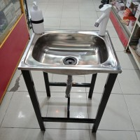 Bak Cuci Piring Portable Set Westafel Set kitchen Sink Set Rak Cuci