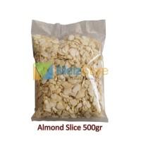 "Kacang Almond Mentah Slice/Potong Tipis,Import Blue Diamond"" 500gr"
