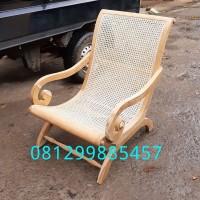 Kursi Teras Santuy Jati Bangku Rotan Goyang Asli Jepara Chair Cafe
