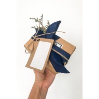 Brown paper packaging with grosgrain ribbon (for 2-4soaps)