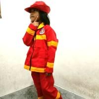 kostum karnaval damkar baju pemadam kebakaran anak
