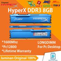 RAM KINGSTON HYPERX FURY DDR3 8GB PC12800 LONGDIMM GAMING NEW ORIGINAL