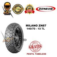 Ban luar motor matic 140/70-13 ZENEOS MILANO ZN87 tbl, GRATIS cop tbl