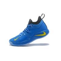 Sepatu Sneakers Basket Bertali Desain Nike PG 2 EP Warna Biru untuk