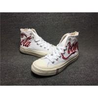 Sepatu Sneakers Sport Unisex Model Converse X cocacola Warna Putih