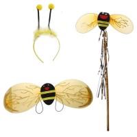 4Pcs/Set Kostum Lebah (Sayap+Bando+Tongkat+Rok) Anak Perempuan untuk