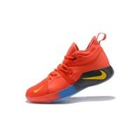 Sepatu Basket Desain Nike PG 2 EP Warna Merah Fluorescent