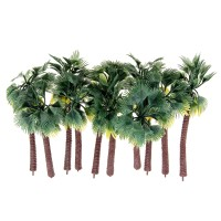 Terbaru 10Pcs Mini Artificial Trees Yellow Leaf Coconut Tree Home