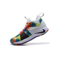 Sepatu Sneakers Basket Bertali Desain Nike PG 2 EP Zoom Warna-warni
