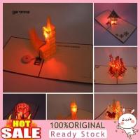 GA_Music Light 3D Pop Up Greeting Card Handmade Birthday Christmas