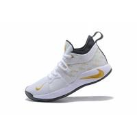 Sepatu Sneakers Basket Bertali Desain Nike PG 2 EP Warna Putih untuk