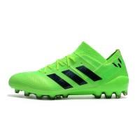 Sepatu Bola Desain Adidas Nemeziz Messi Warna Hijau, Ukuran 39-45