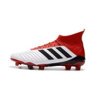 Sepatu Bola Desain Adidas Predator 18.1 FG Warna Merah Ukuran 39-45