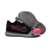 Sepatu Basket Desain Nike Kobe 10 Elite Low Warna Hitam / Pink