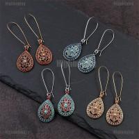 Hbid Glory Vintage Bohemian Ethnic Beads Water Dangle Drop Earrings