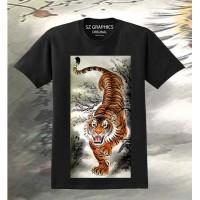 sz graphics t shirt pria kaos pria baju pria atasan pria brave tiger