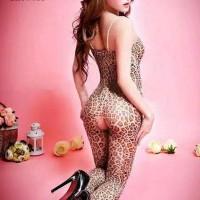 Stocking Tubuh Leopard Macan Baju Tidur Wanita Seksi Bulan Madu