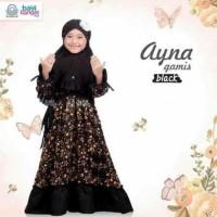 Hot Produk Gamis Anak Ayna Black Size Xxl Untuk Anak 7-12Thn Pakaian