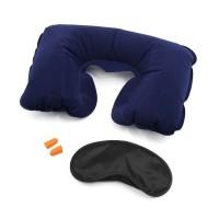 A52 Bantal Leher Angin Travel Pillow Set 3in1 Bantal Tiup Inflatable