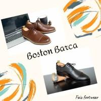 sepatu kulit asli model barca(pantofel/boot/bally/delta/adidas/brodo