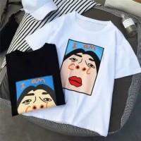 T-shirt Santai Cool Tee Baju Sablon Kaos Muka Tumbl