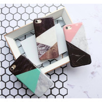 Triangle Marble Case - Full Cover iPhone 5/5s/SE, 6/6s, 6+/6s+