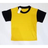 Baju Kaos Anak Polos (M) Bahan Katun, Adem, Tidak Panas