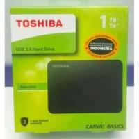 Hardisk HDD external toshiba canvio basic 1TB original garansi resmi 3