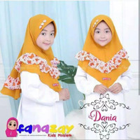 Kerudung Anak Kancing Motif Variasi Rempel Motif / Jilbab Hijab Anak - All Size, Ungu