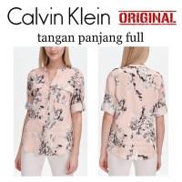 ORI - Calvin Klein Utility Floral Print Shirt Blouse - Kemeja CK Bunga