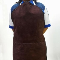 apron dada / pelindung las dada coklat SAGAS